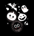festive bright card with characters for halloween vector image vector image