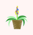 flat shading style icon hyacinth vector image vector image