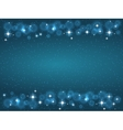 Frame with stars on the dark blue background vector image vector image