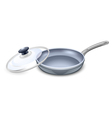 frying pan vector image vector image