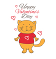 funny love cat vector image vector image