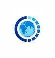 globe round sphere logo vector image vector image