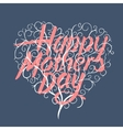 Happy mothers day vintage typographical card vector image vector image