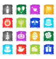 holidays simply icons vector image vector image