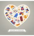 Holland travel heart postcard with famous Dutch vector image vector image