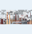 industrial factory pipes chimneys vector image