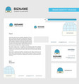 internet business letterhead envelope and vector image vector image