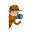 investigation observation shadowing detective vector image