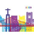 Lisbon skyline pop vector image vector image