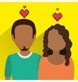 Online relationship technology design vector image