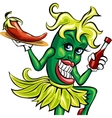 pepper waitress vector image