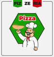 Pizzeria mascot logo template vector image vector image