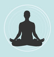 practicing yoga meditating vector image