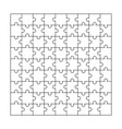 puzzle jigsaw vector image