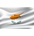 realistic waving flag cyprus fabric vector image vector image