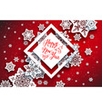 red festive snowflakes background-01 vector image