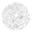 search related from line icon vector image vector image