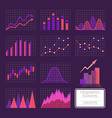 Set of charts vector image vector image