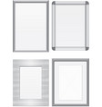 set of metal frames vector image