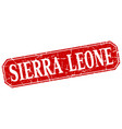 sierra leone red square grunge retro style sign vector image vector image