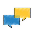 speech bubbles communication dialog message vector image vector image