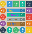 Summer sports basketball icon sign Set of twenty vector image vector image