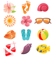 summer time icons vector image vector image