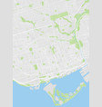 toronto colored map vector image vector image