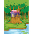 tree house vector image vector image