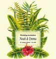 tropical wedding invitation vector image