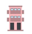 Two-storey house with balcony icon vector image