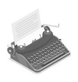 typewriter isometric vector image vector image
