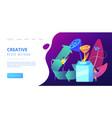 upcycling concept landing page vector image vector image
