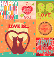 valentine day cards design template vintage vector image vector image