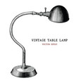 vintage table lamp hand draw vintage engraving vector image vector image