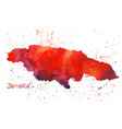 watercolor map jamaica island stylized image vector image vector image