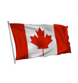 waving in wind flag canada on pole vector image