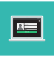Web Template of Notebook Login Form vector image vector image