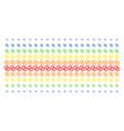 wedding rings shape halftone spectrum pattern vector image vector image