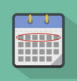 calendar day icon flat style vector image