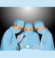surgeons in the operating room vector image