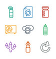 9 refresh icons vector image vector image