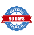 90 days guarantee stamp - warranty sign vector image vector image