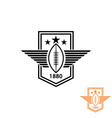 american football or rugby ball with wings vector image