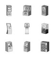 atm coffee machine information apparatus and vector image vector image