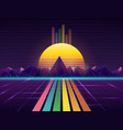 background in style 80s vector image vector image