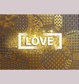 background love heart wallpaper vector image vector image