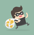 bad guy stealing ideas vector image vector image