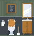 bathroom interior toilet in flat style vector image vector image