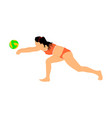 beach volleyball player woman play volleyball vector image vector image